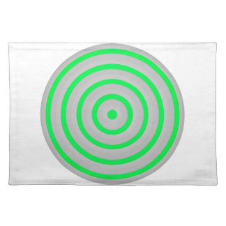 Customisable Colourful Concentric Circle Design Placemat