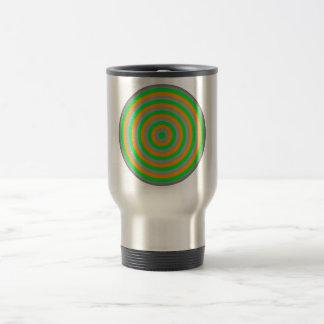 Customisable Colourful Concentric Circle Design Travel Mug