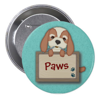 Customisable Cute Puppy Dog with Signboard Pins