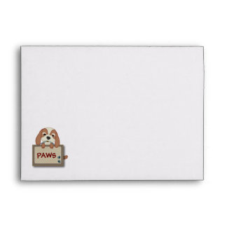 Customisable Cute Puppy Dog with Signboard Envelopes