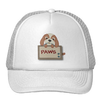 Customisable Cute Puppy Dog with Signboard Trucker Hat