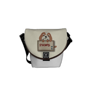 Customisable Cute Puppy Dog with Signboard Courier Bags
