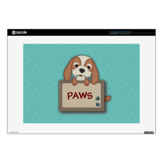 Customisable Cute Puppy Dog with Signboard Decal For Laptop