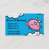 Customisable flying Pig Business card