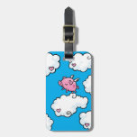 customisable Flying pig luggage tag