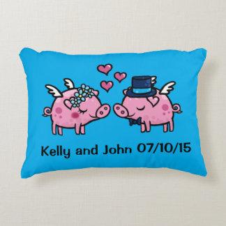Customisable Flying Pig wedding memento Decorative Pillow