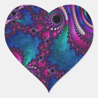 Customisable Fractal Heart Sticker