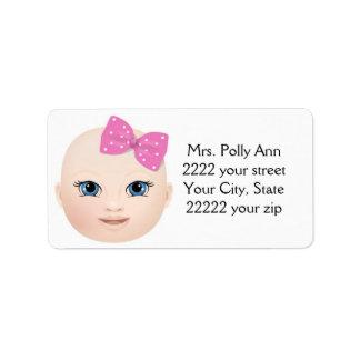 Customisable Girl/Boy Address Label