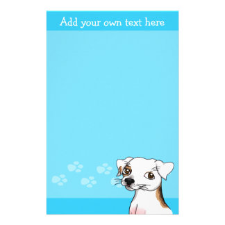 Customisable jack russell stationary stationery