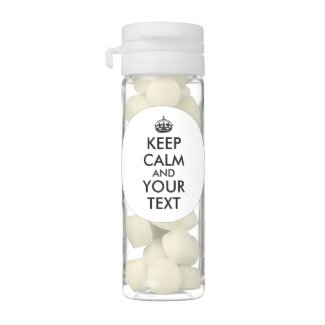 Customisable Keep Calm Party Favors Gum Your Text