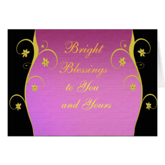Customisable Pagan greeting card floral design