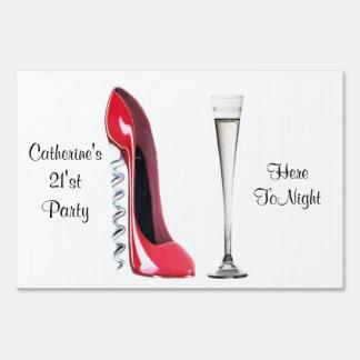 Customisable Party Celebration Yard Sign