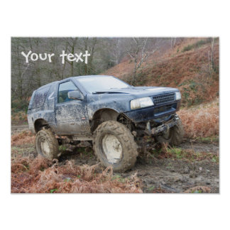 Customisable poster featuring 4x4 off road truck