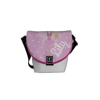 Customisable Pretty Pink Fairy Mini-Messenger Bag