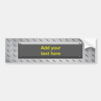 Customisable  Sign - Metal / Black Metal Plaque Bumper Sticker