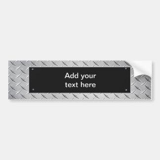 Customisable  Sign - Sheet Metal / Black Plaque Bumper Sticker