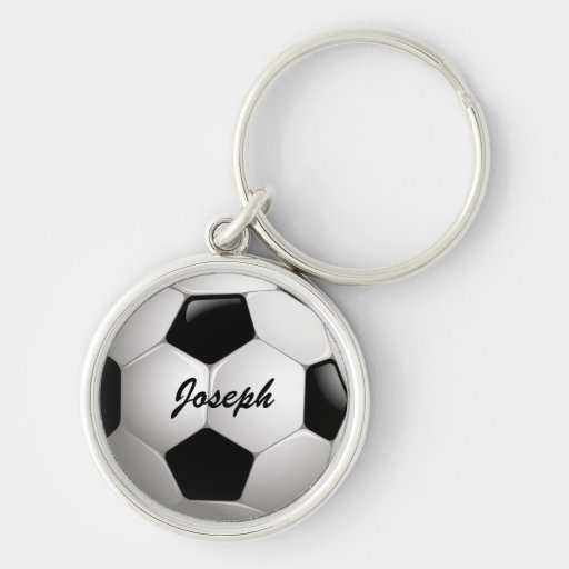Customisable Soccer Ball Premium keychain