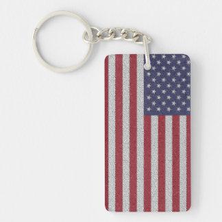 Customisable USA Flag Keychain