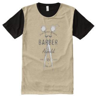 Customisable vintage barberman t-shirt design