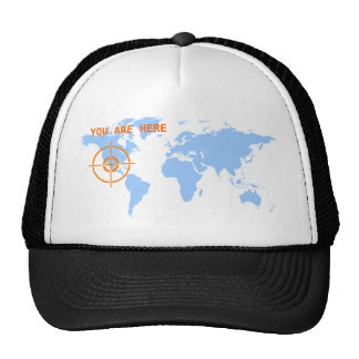 Customisable You Are Here Cap Trucker Hat
