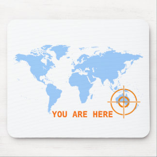 Customisable You Are Here Mousepad