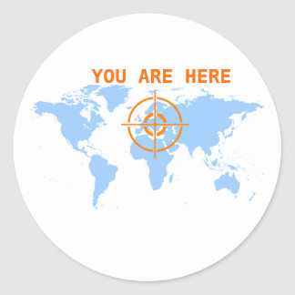 Customisable You Are Here Sticker