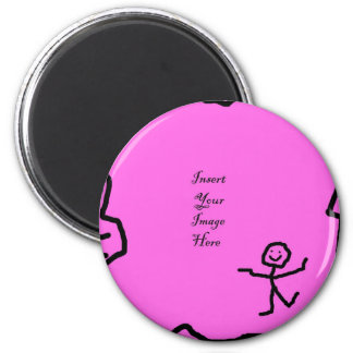 Customise it with your picture 2 inch round magnet