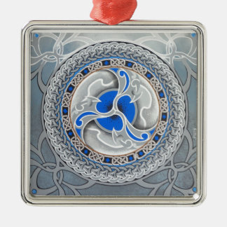 Customise Product Silver-Colored Square Decoration