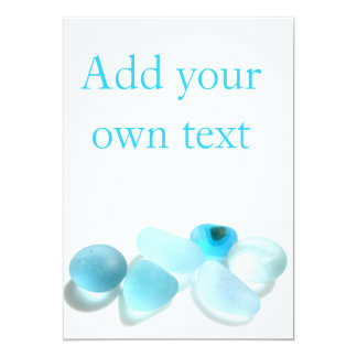 Customise your own card with Seaham Sea Glass