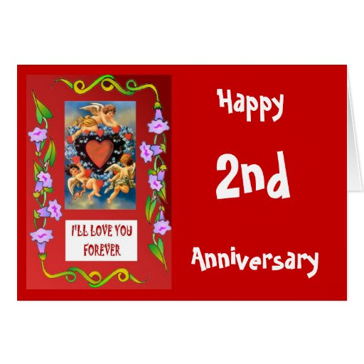 Customiseable Anniversary Card; I'll love you fore