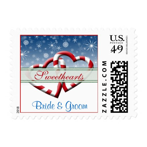 Customised Winter Wedding Save The Dates Stamp