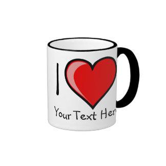 Customizabe I Heart Mug