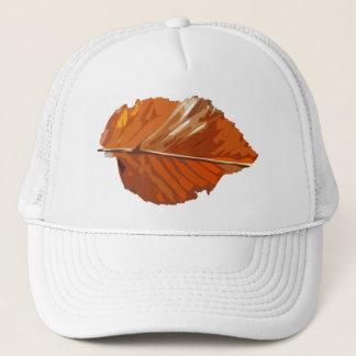 Customizabe Orange and Brown Fall Leaf Trucker Hat