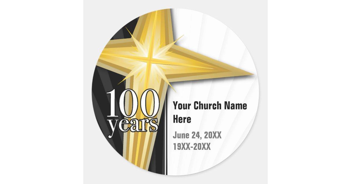 customizable 100 year church anniversary classic round