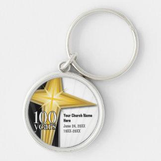 Customizable 100 Year Church Anniversary Keychain
