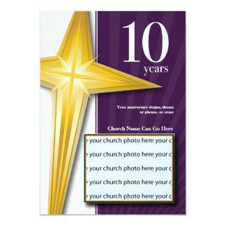 Customizable 10 Year Church Anniversary Card