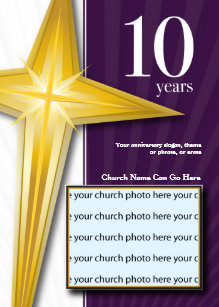 Church anniversary invitations zazzle customizable 10 year church anniversary invitation stopboris Images