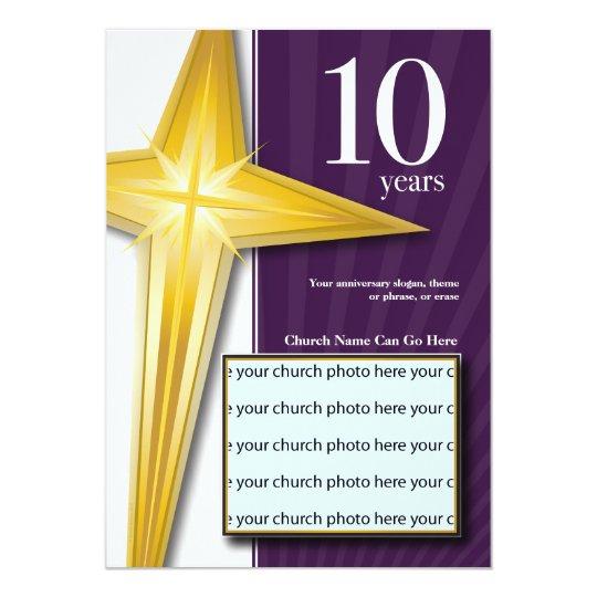 Customizable 10 Year Church Anniversary Invitation Zazzle Com