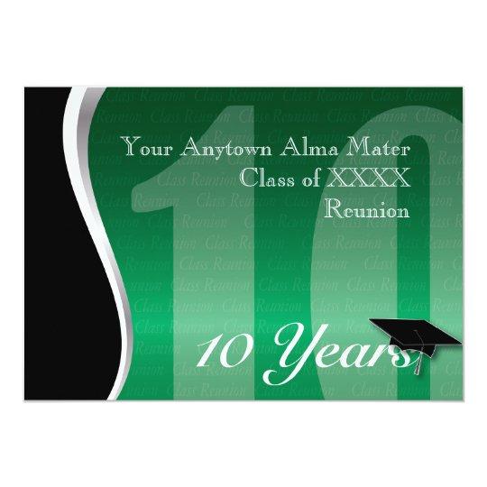 Customizable 10 Year Class Reunion Card