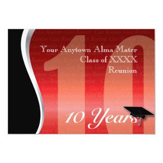 Customizable 10 Year Class Reunion 5x7 Paper Invitation Card