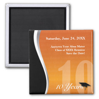 Customizable 10 Year Class Reunion 2 Inch Square Magnet