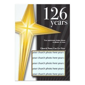 Customizable 126 Year Church Anniversary Custom Invites