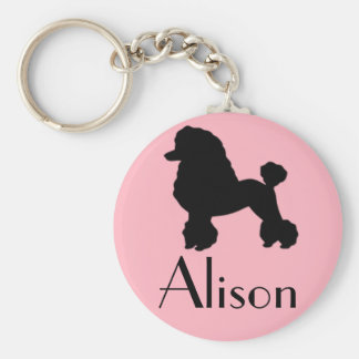 Customizable 1950's Pink Poodle Skirt Keychain