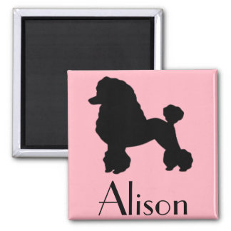 Customizable 1950's Pink Poodle Skirt Magnet