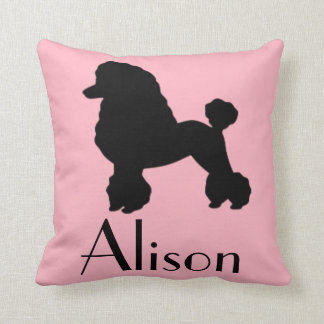 Customizable 1950's Pink Poodle Skirt Throw Pillow