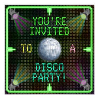 Customizable 1970 s Disco Ball Party Custom Invitation