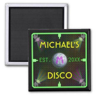 Customizable 1970's Disco Ball Magnet