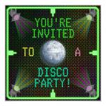 Customizable 1970's Disco Ball Party 5.25x5.25 Square Paper Invitation Card