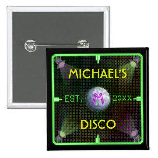 Customizable 1970's Disco Ball Pinback Button