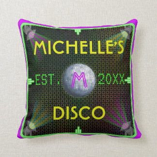 Customizable 1970's Disco Ball Throw Pillow